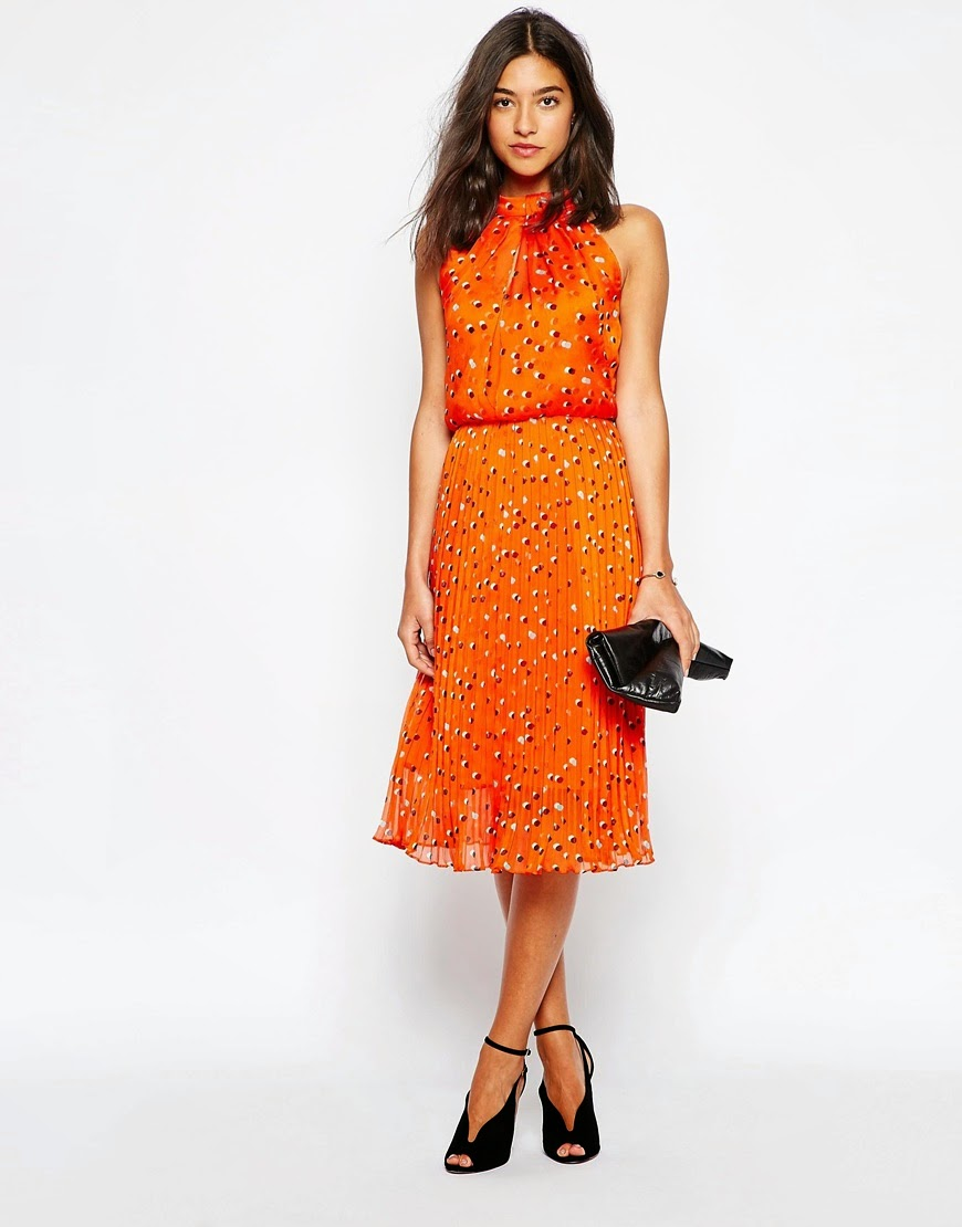 karen millen orange dress