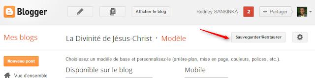 sauvergarder/restaurer modèle blogger