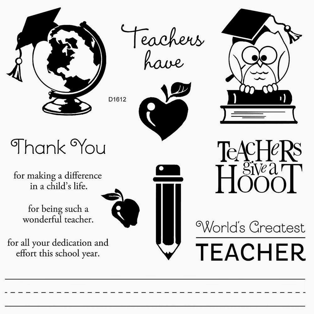 Close To My Heart Teacher Appreciation stamp set