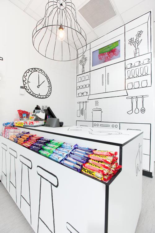 uma loja de doces que é um doce
