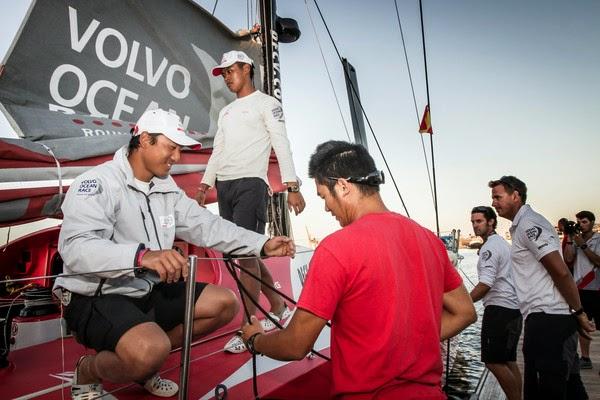Débuts difficiles pour Dongfeng sur la Volvo Ocean Race.