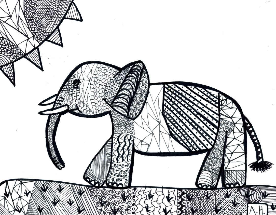 Line Art Of Animals : Erin s art class line drawing animals