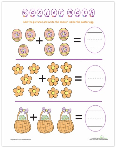 ... addition and subtractions worksheets the easter theme makes math fun
