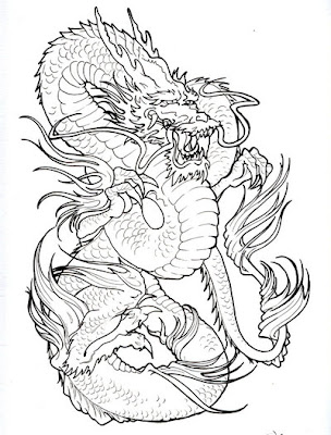 Gambar Tattoo Naga Triba l