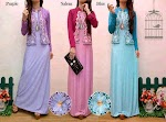 Gamis Spandex + Bolero Bordir SOLD OUT
