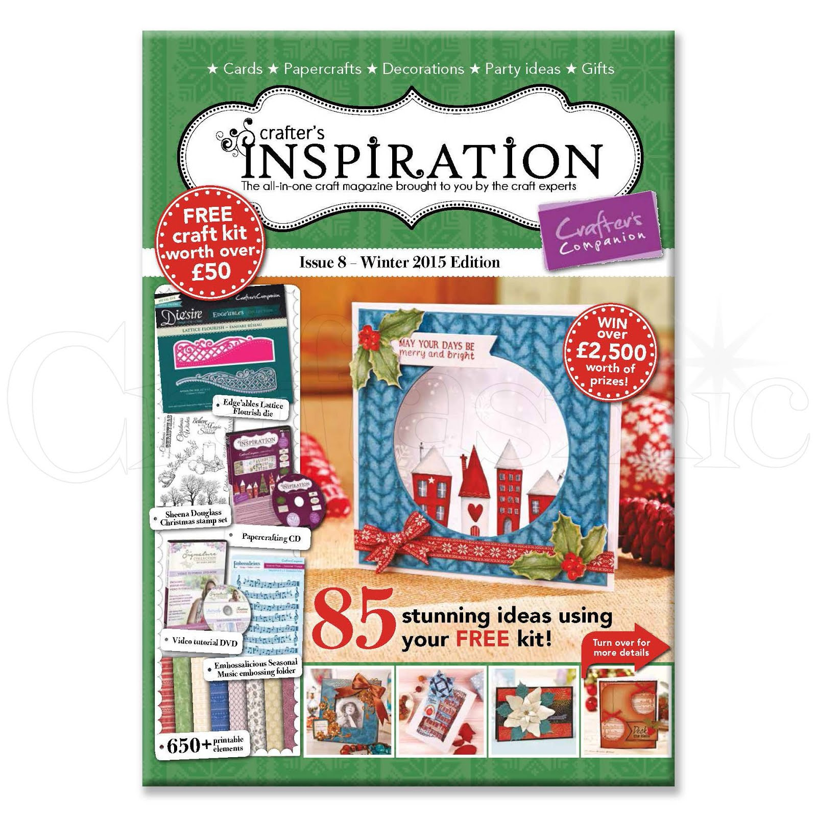 Thrilled to be featured in the latest Crafter's Companion Inspirations magazine!