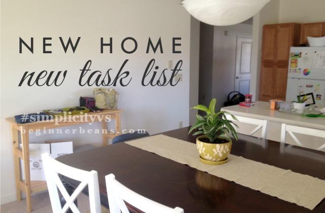 New Home, New Task List