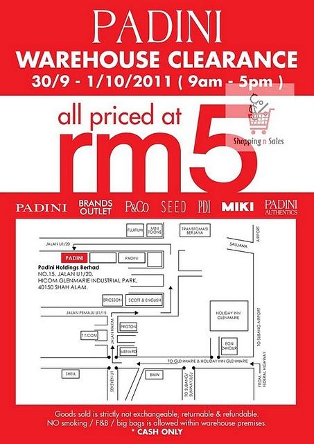 Padini warehouse clearance rm5 satu barang wehh for Koi warehouse sale