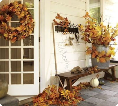 decor for front door fall leaves