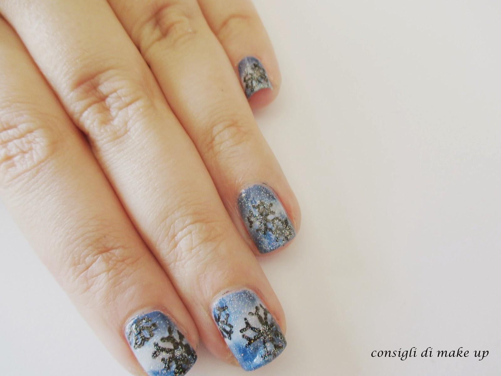 Nail art: fiocco di neve