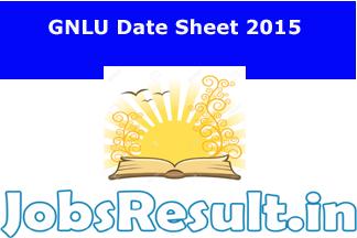 GNLU Date Sheet 2015