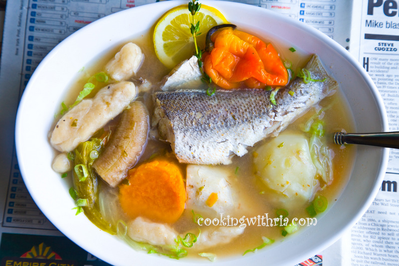Image gallery trinidad soup for Fish broth soup