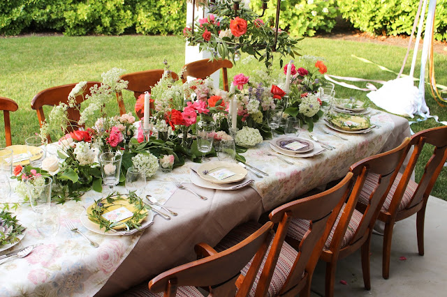 Midsummer Party - A Fragrant & Tasty Soirée - Table Arrangement - Aimee Ferre