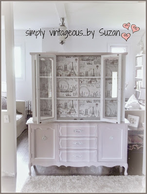 Hutch makeover with French Flair