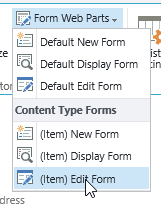 SharePoint Form Web Parts