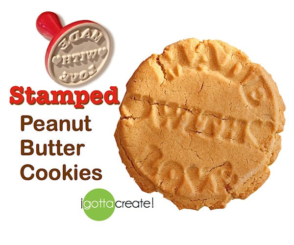 Yum!! Stamped peanut butter cookies. Recipe at I Gotta Create!