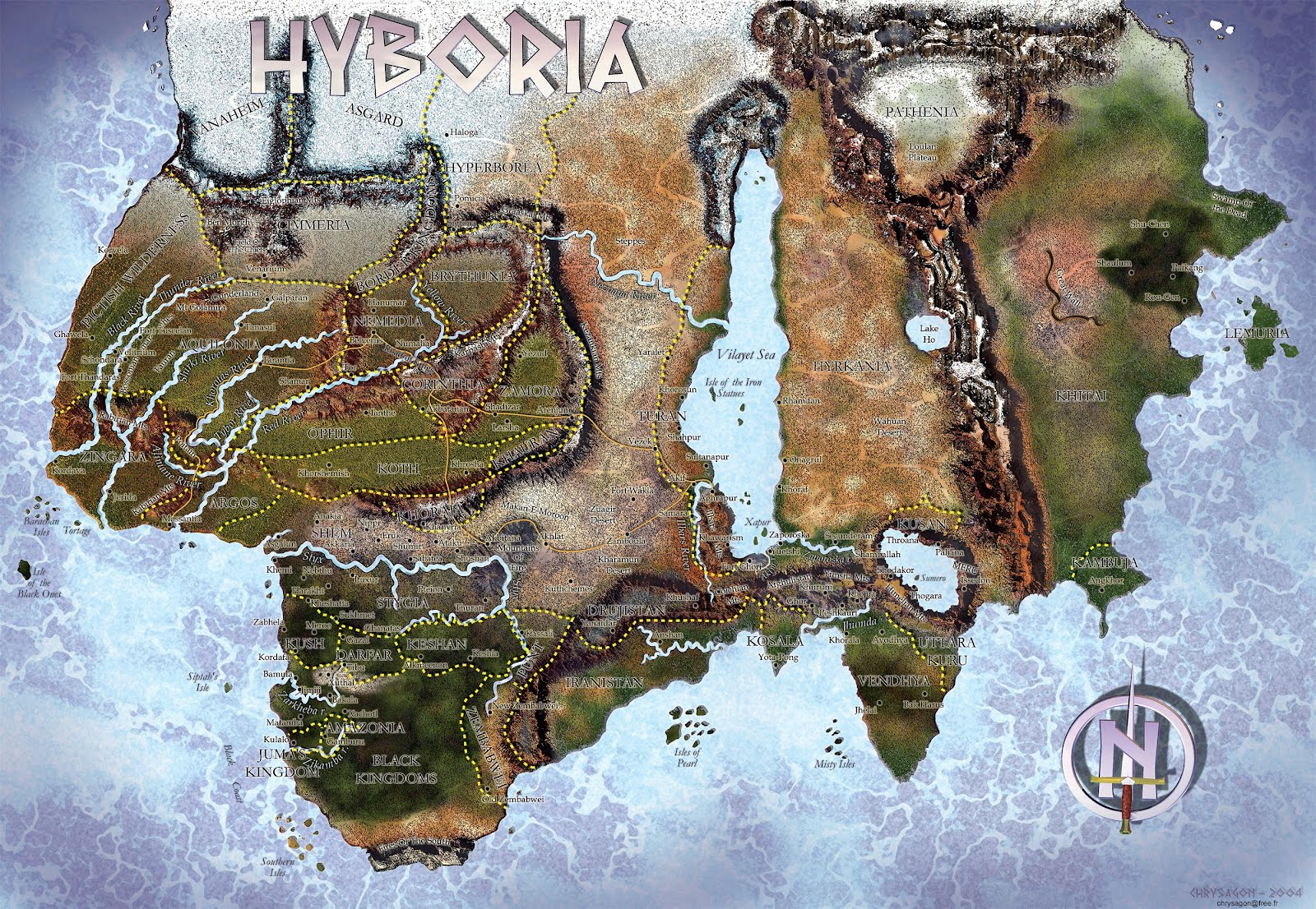 Nerdovore: Fantasy World Maps: Westeros + Hyboria