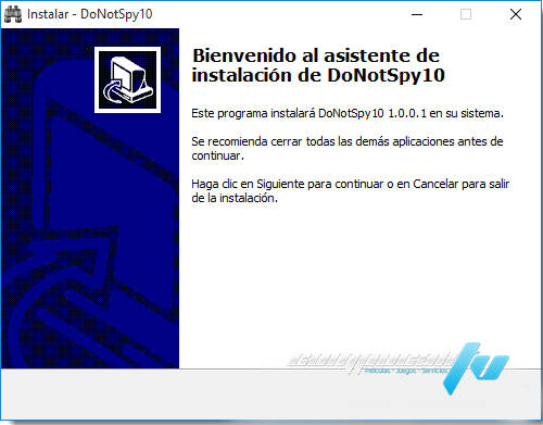 DoNotSpy10 y Destroy Spying Privacidad Window 10