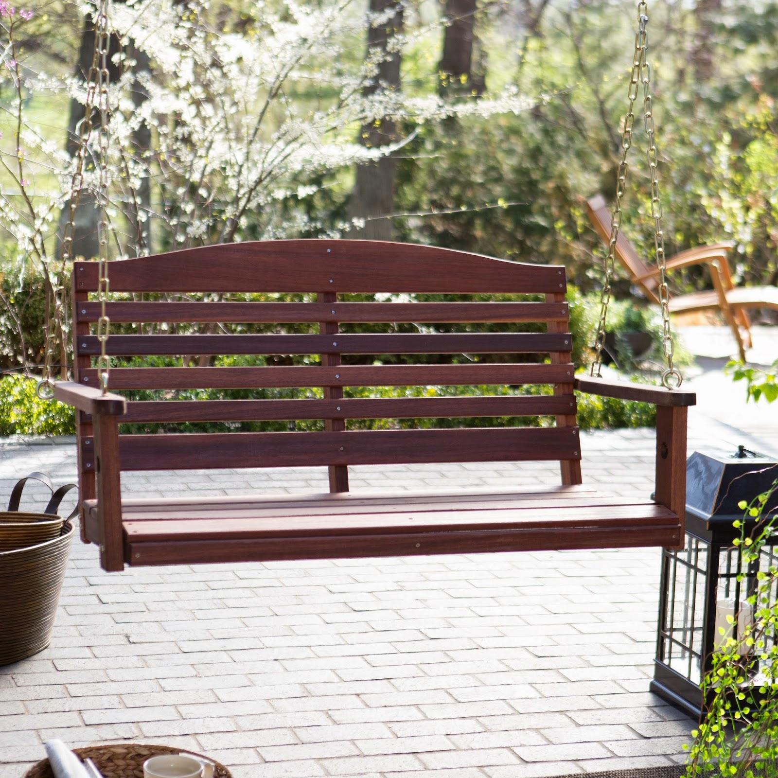 Multinotas bancas de madera accesorios decorativos - Columpios de terraza ...