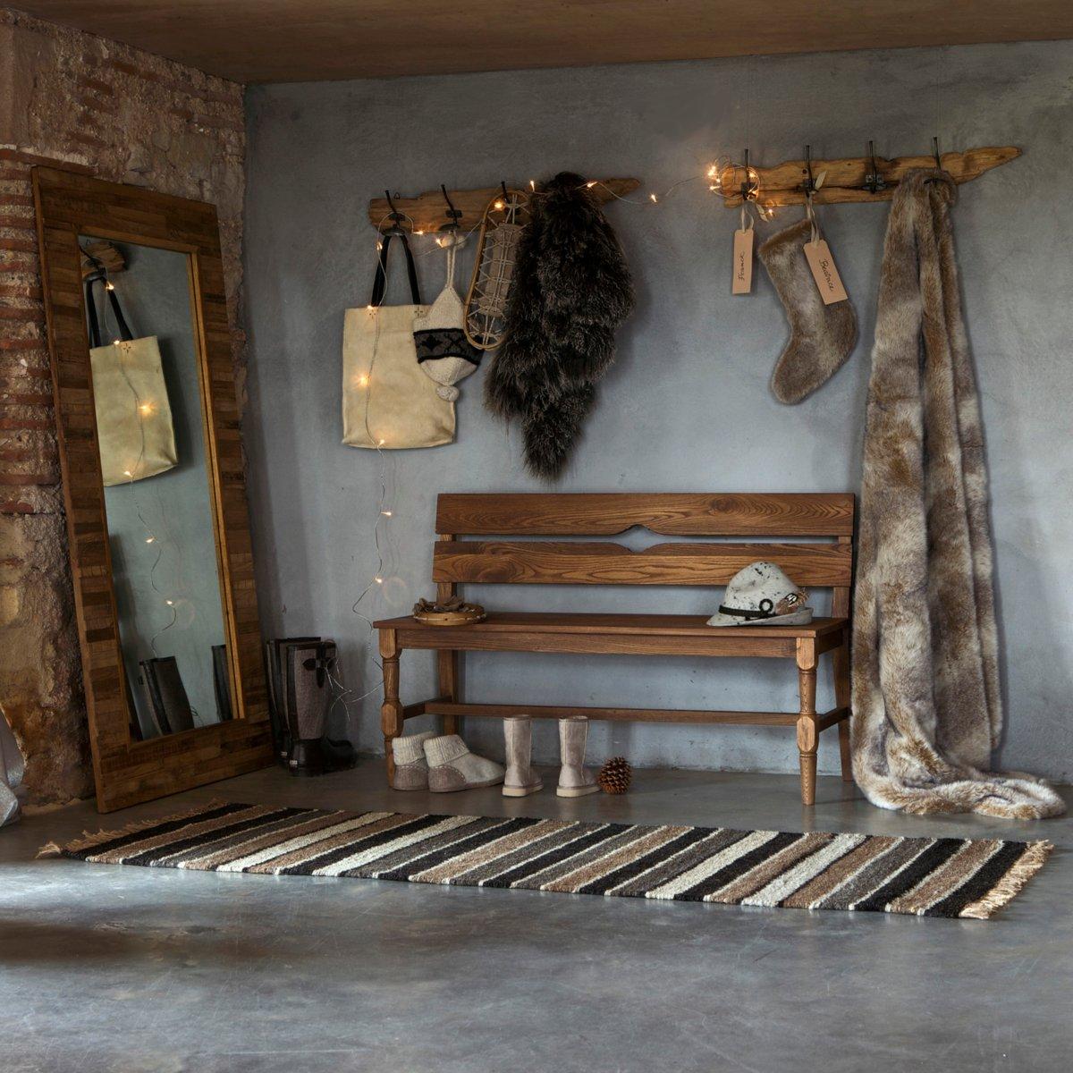 entr e scandinave banc en boic et miroir ampm dekobook. Black Bedroom Furniture Sets. Home Design Ideas