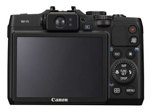 Fotografia del dorso della Canon PowerShot G16
