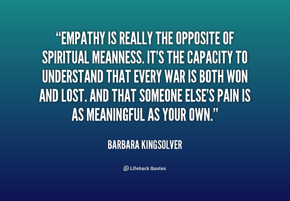 understanding the importance of empathy in the real world Cognitive empathy goes beyond pain — our ability to understand what is going on in somebody else's mind is an important part of being human and is none of this is to say that rescuers should not have worked to save jessica mcclure — she was a real-world example of mencius's proverbial drowning child — but there.
