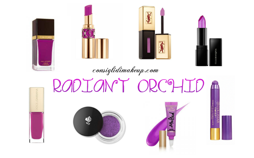 pantone radiant orchid trucco