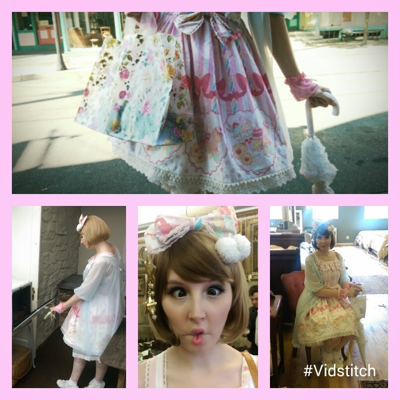 Ty being adorable in sweet lolita fashion inspired by cult party kei looks