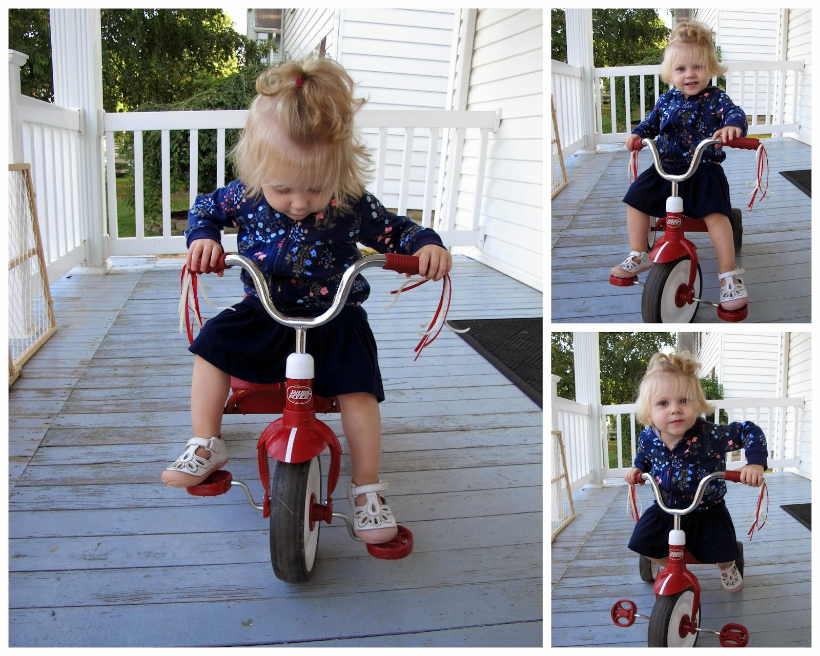 Stella on Her Baby Bike