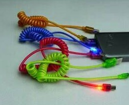 Kabel Data Spiral Nyala Led