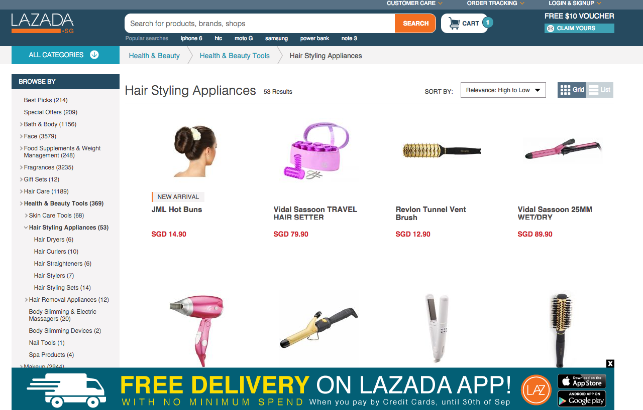 Top 10 Hairstyling Tools From Lazada Singapore Online