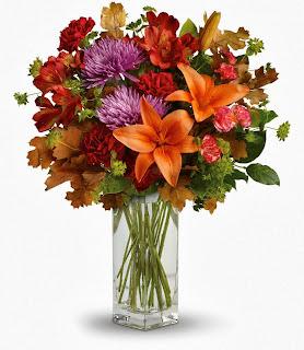 Vase of Autumn Flowers