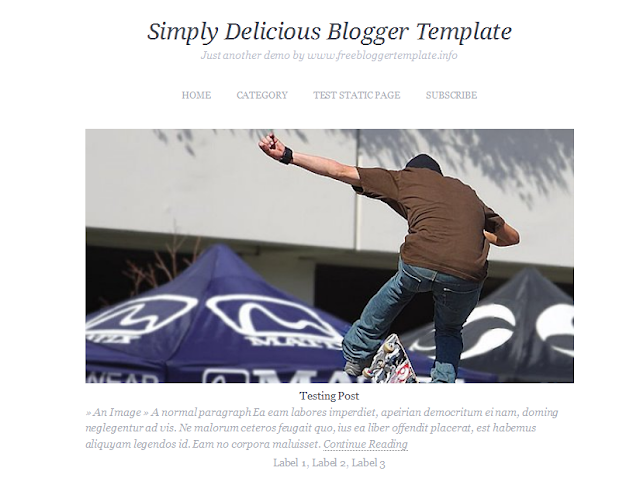 One Column Blogger Template