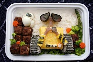 Tartera Wall-E hechos con comida