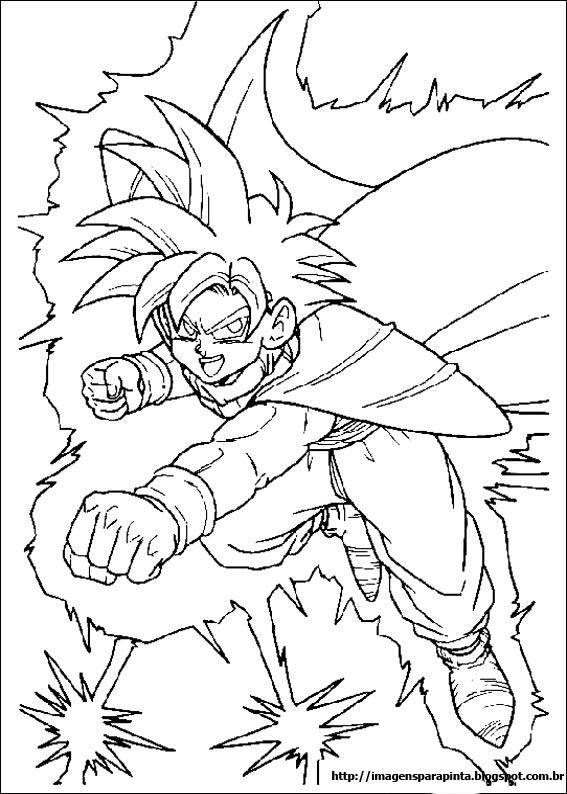 Desenhos Para Colorir Dragon ball z super sayajin