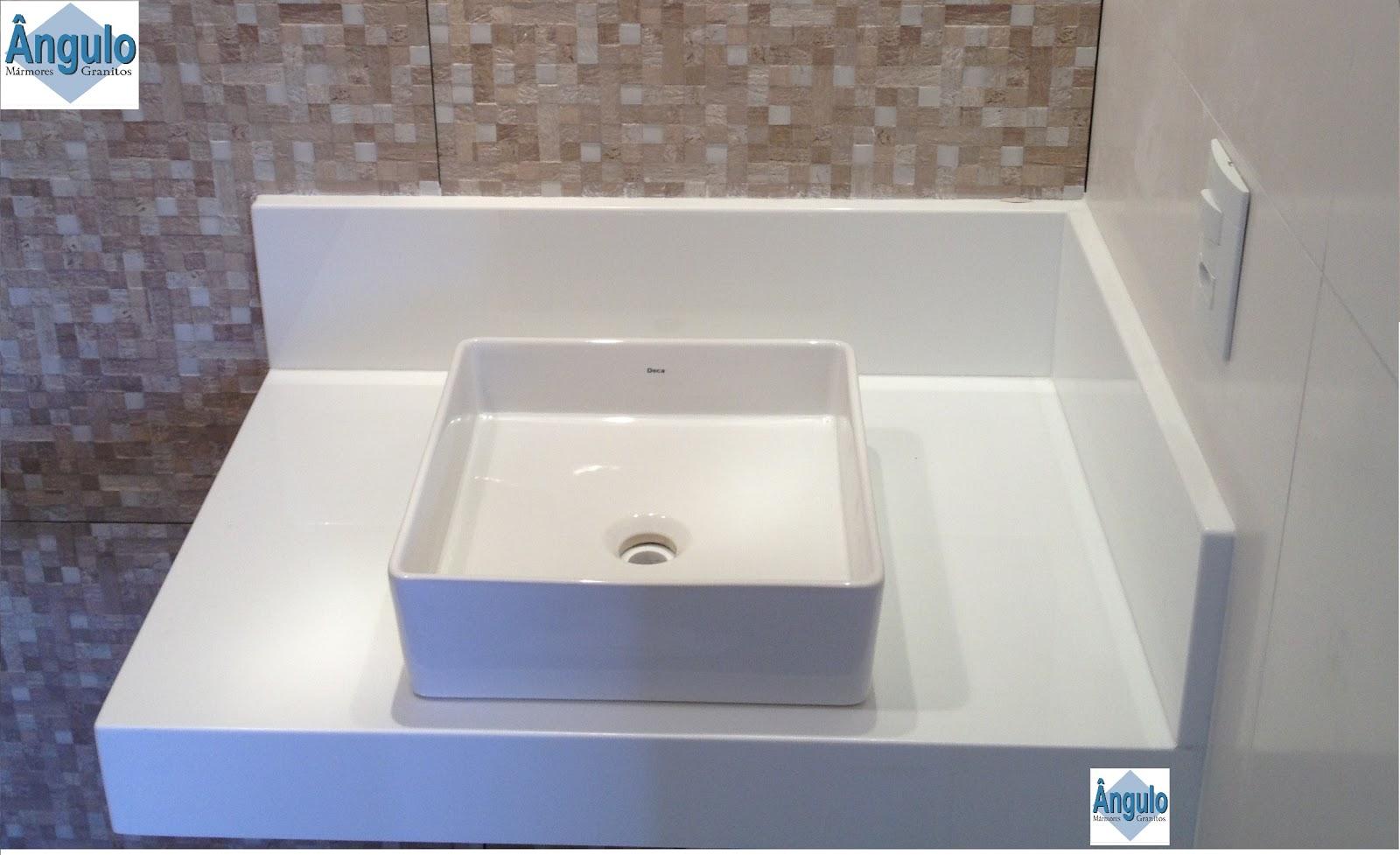 Ângulo Mármores e Granitos Banheiros -> Pia De Banheiro Em Nanoglass