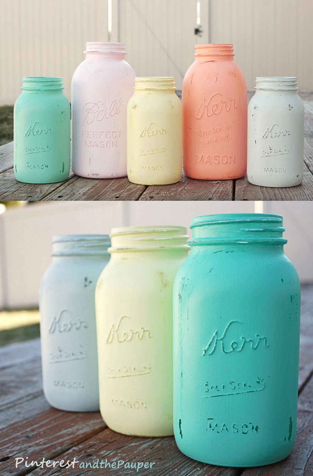 Pinterest And The Pauper Diy Painted Mason Jars