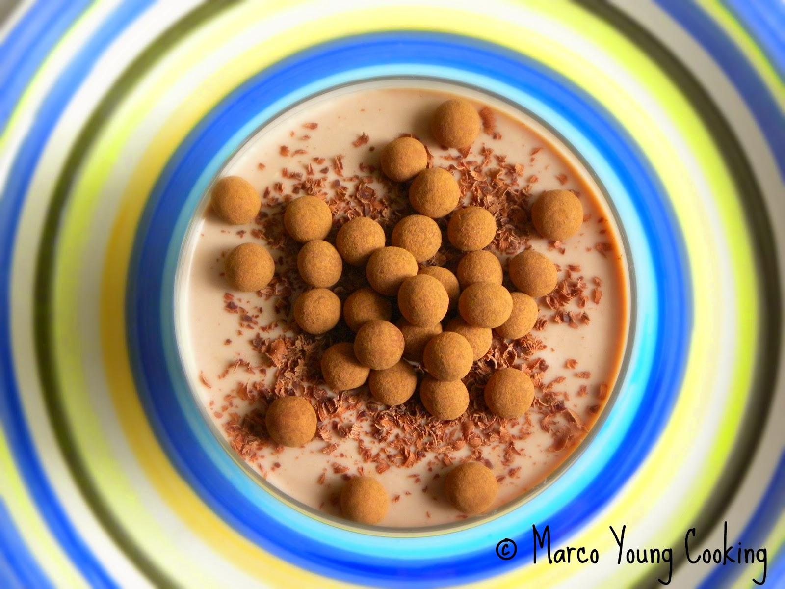 ricetta coppa di ricotta e cacao con tartufini al cioccolato