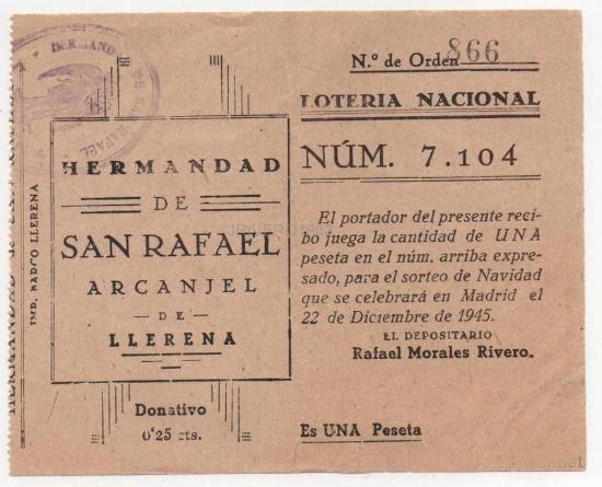 participación de Lotería Nacional de 19945