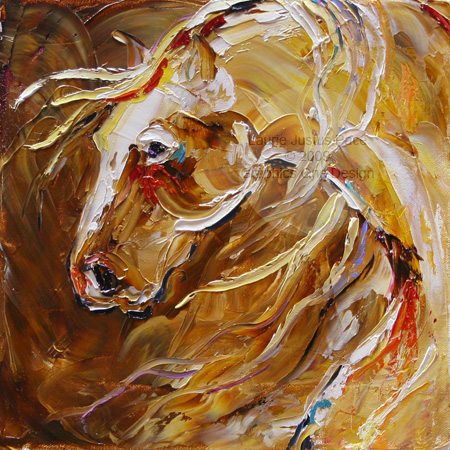 texas contemporary fine artist laurie pace abstract horse