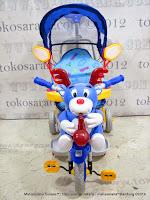 Sepeda Roda Tiga Family F593BT Rusa + Kanopi, Jok Kain