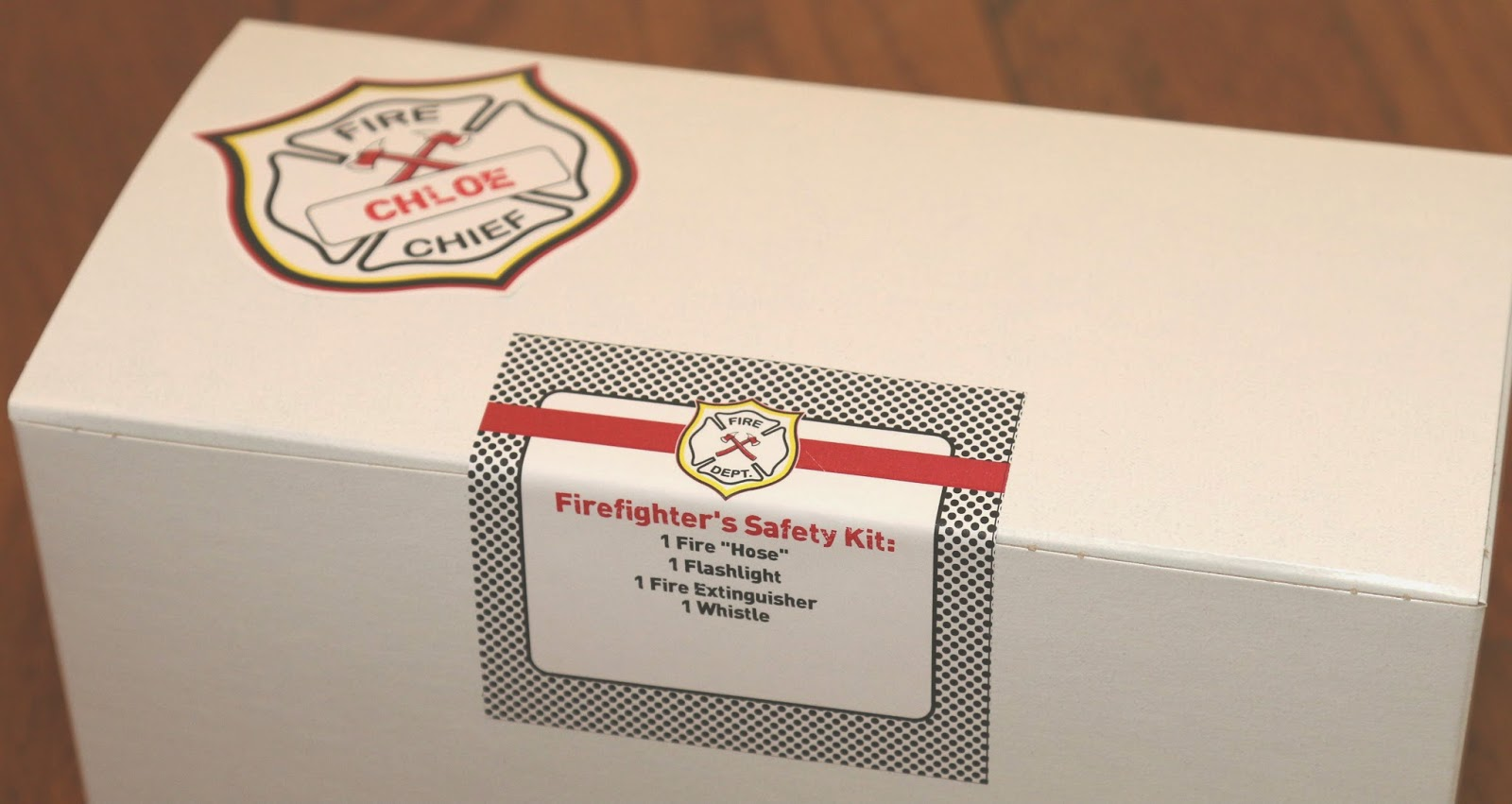 Fireman Safety Kit Loot Bag Packaging