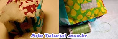 Como fazer dado de tecido intantil