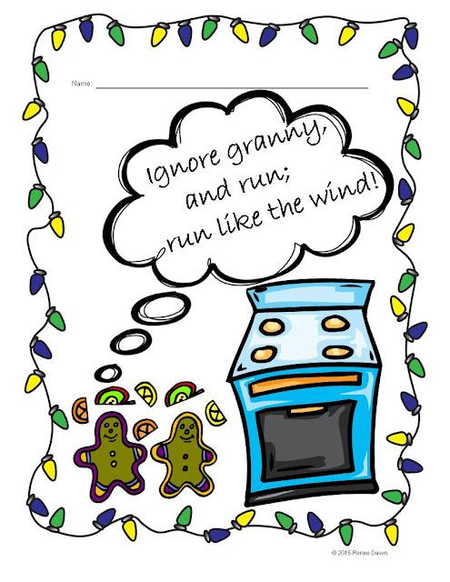 Christmas Writing Speech Bubbles - Renee Dawn