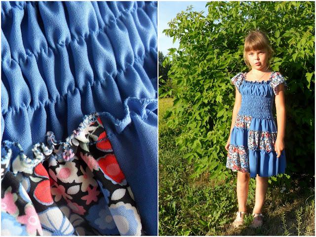 Платье резинка для девочек как сшить 143