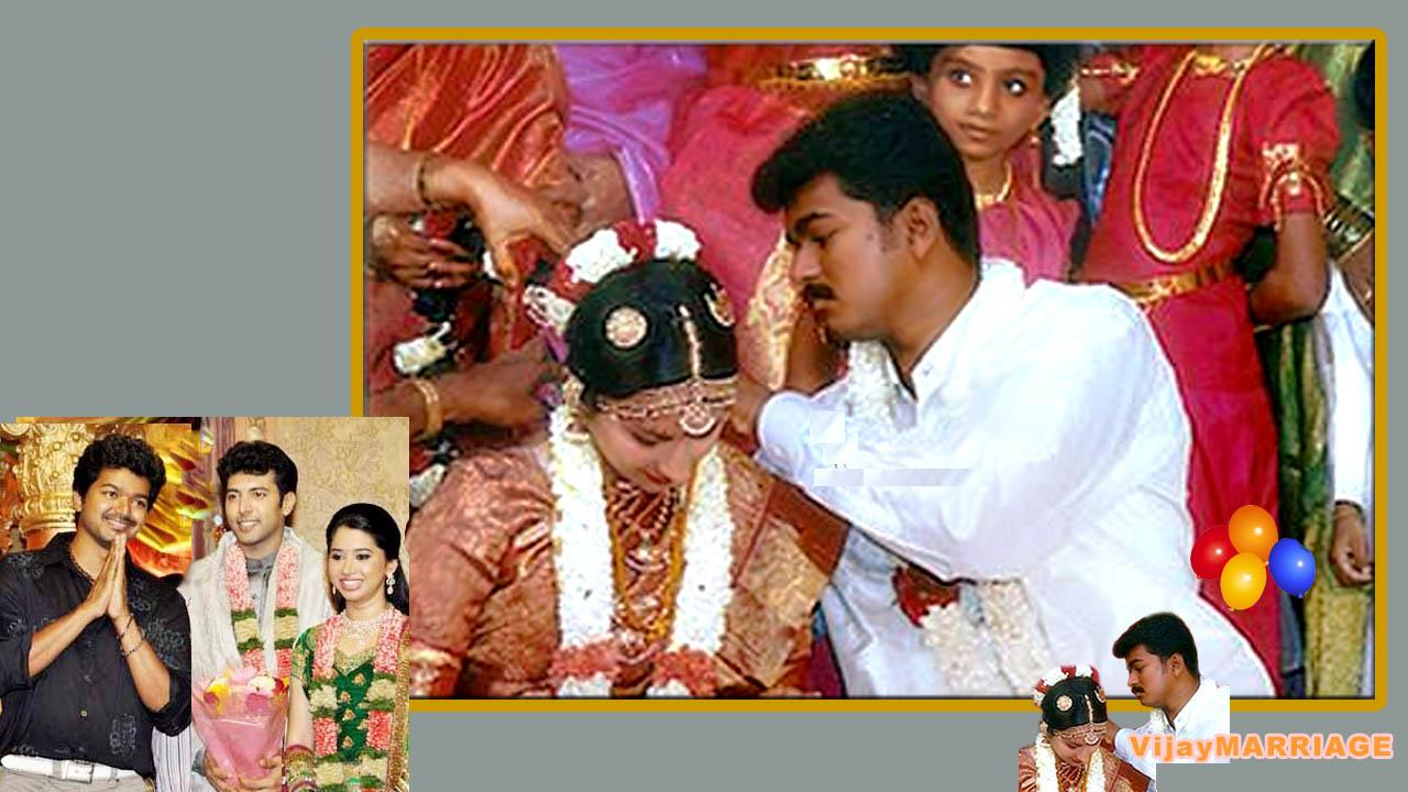 TAMIL FILM NEWS: Ilayathalapathy Vijay's marriage photos