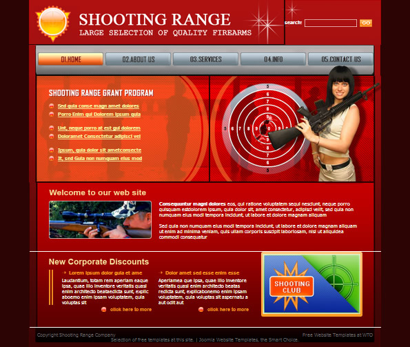 Ecommerce Site Name : Shooting Range Red