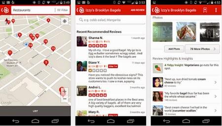 Busca lugares de entretenimiento con Yelp para Android