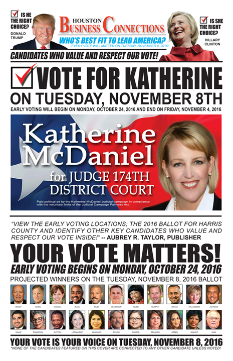 KATHERINE MCDANIEL VALUES OUR VOTE, SUPPORT AND COMMUNITY!