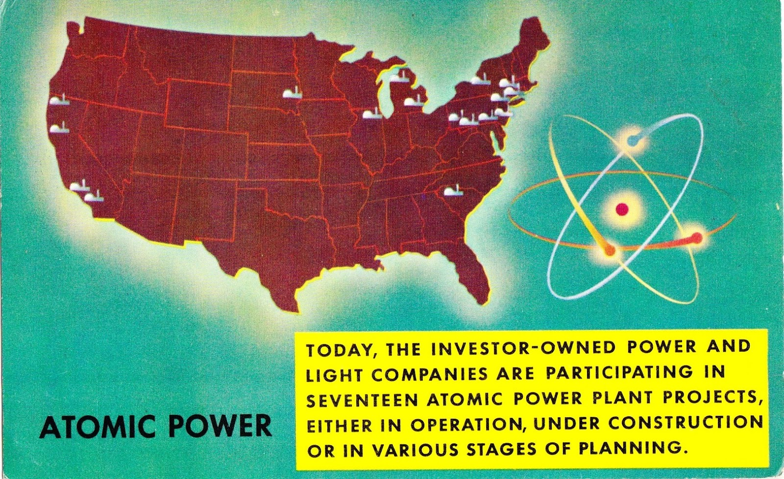 Nuke Em Post Cards November - Nuke map us